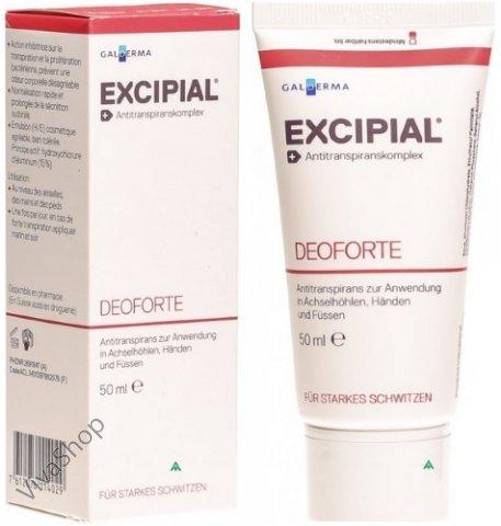 Excipial DeoForte Эксипиал ДеоФорте Антиперспирантный крем 50 мл Excipial SpirigPharma (Эксипиал)