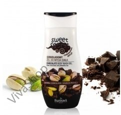 Sweet Secret Гель для душа аромат горького шоколада с тонким оттенком фисташковых орехов 225 мл Farmona