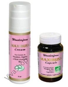 Maxibust organic Wonderform Максибюст набор капсулы №90 + крем для зоны декольте 75 мл Laboratoires INELDEA (Лаб. Инельдиа)