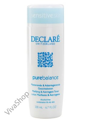 Declare Pure Balance Matifying Toner Матирующий антисептический лосьон для лица (без спирта) 200 мл Declare