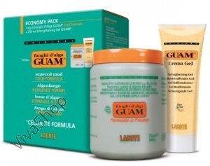"""GUAM Fanghi d`Alga Formula a Freddo ГУАМ Антицеллюлитная маска из морских водорослей эконом-упаковка """"холодная формула"""" (1000g +250ml) GUAM"""