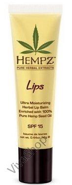 Hempz Lip Balm Защитное масло для губ с маслом и экстрактом семян конопли SPF 15 14,5 gr Hempz