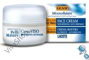 GUAM Microcellulaire Crema Viso Nutriente-Antirughe Микроклеточный питательный крем от морщин для лица 50 мл GUAM